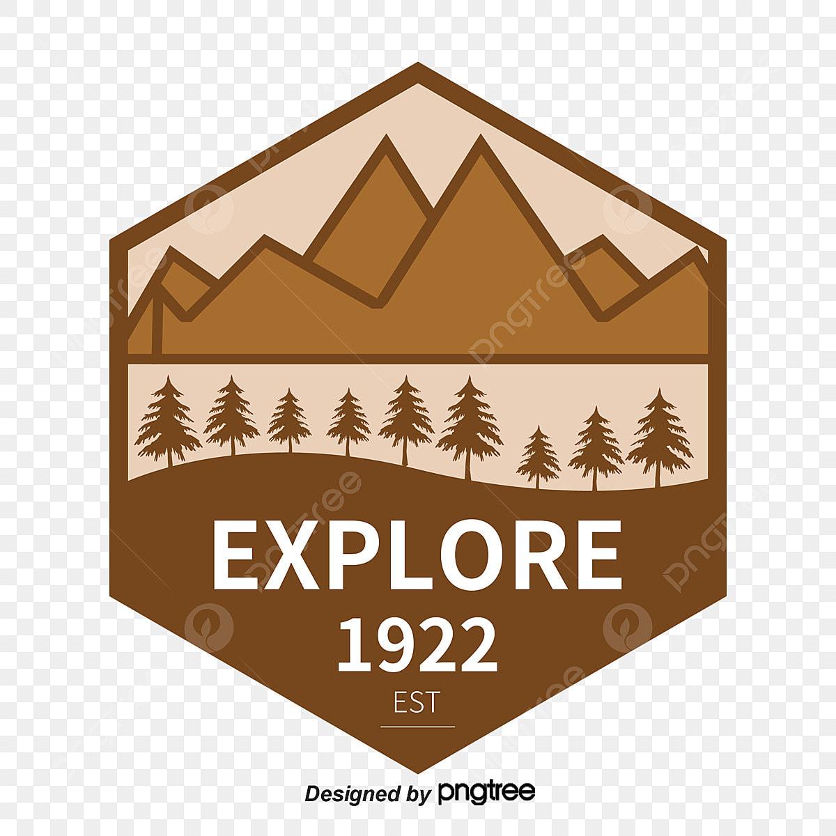 Le Vecteur De La Montagne De Logo Marque Culture D