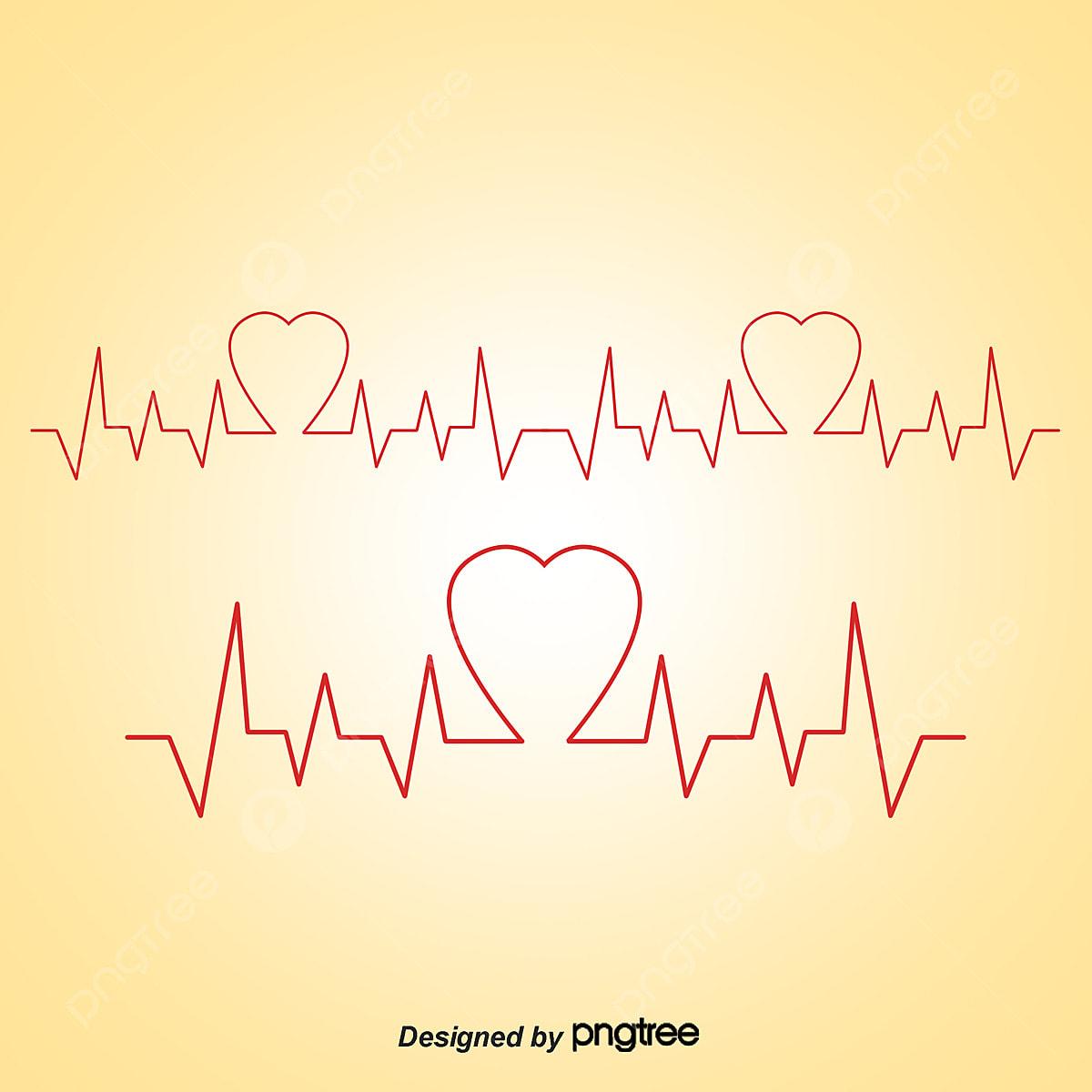 ناقلات رسم نبضات القلب نبض القلب المرسومة قلب أحمر Png وملف Psd للتحميل مجانا