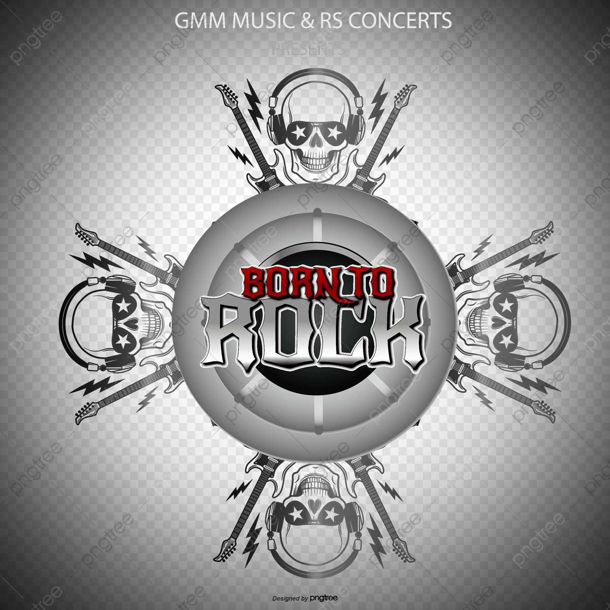 Vector Rock Music, Skull, Guitar, Skull PNG and Vector with
