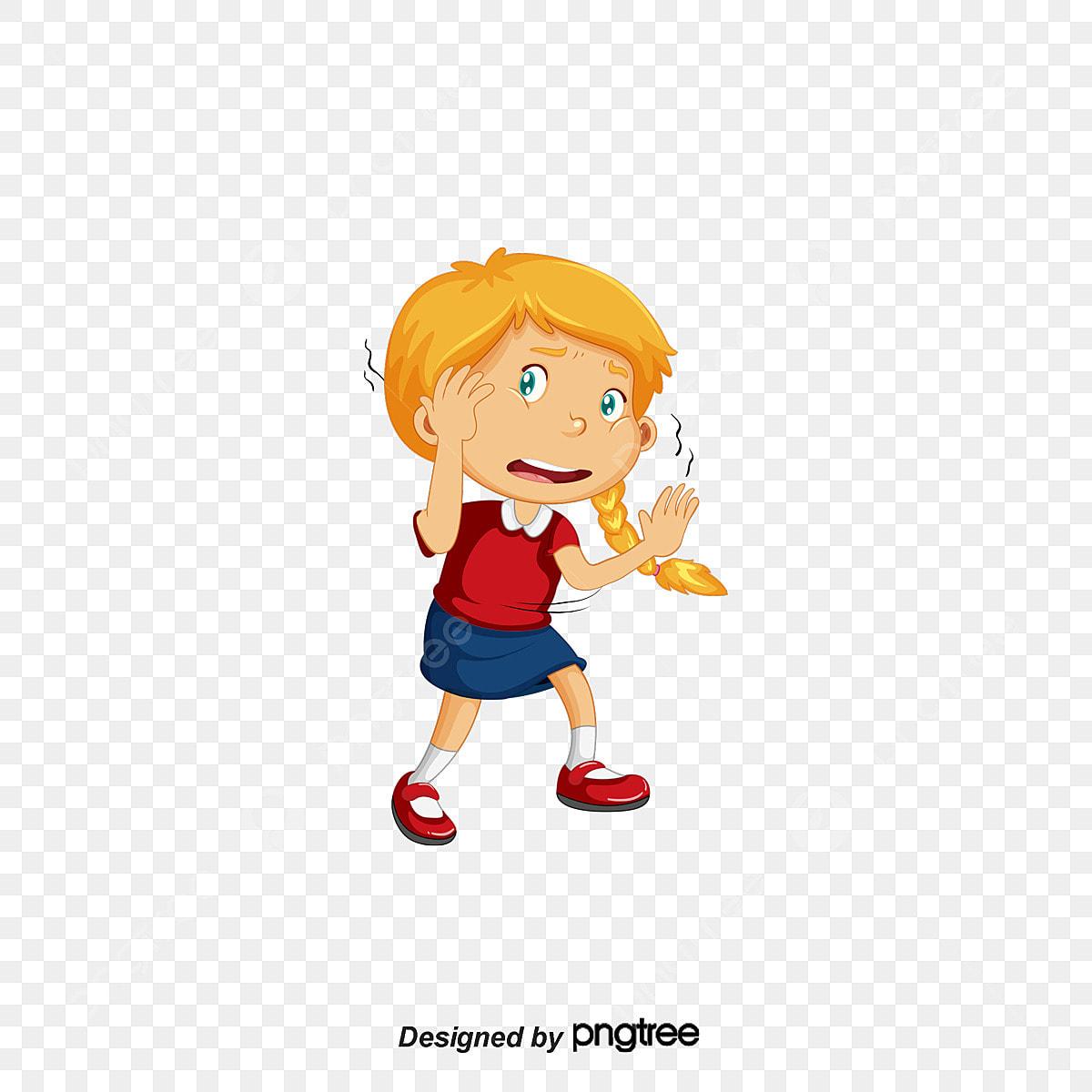 ناقلات يرتجف طفل فتاة خائف Png وملف Psd للتحميل مجانا
