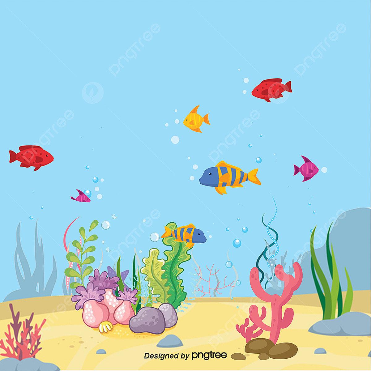 Vetor Do Fundo Do Mar Angelfish Png Algas Png Mar Png E