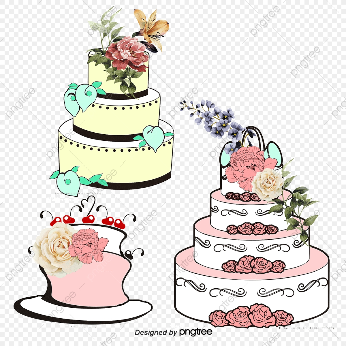 Wedding Cake Png Vector Psd And Clipart With Transparent Background For Free Download Pngtree