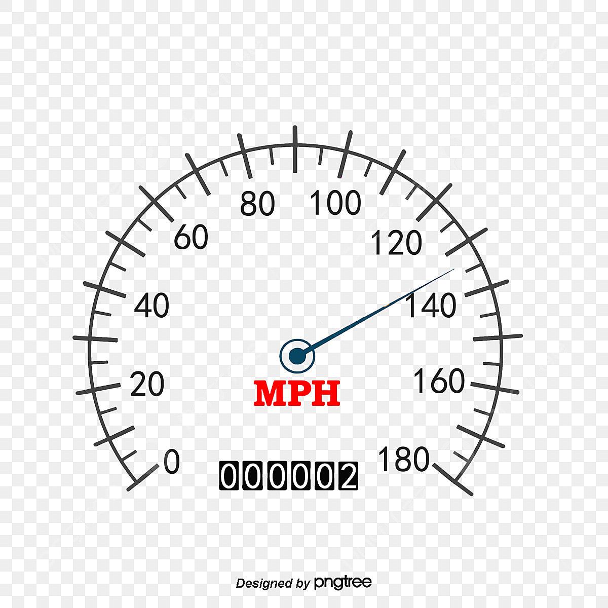 Vector White Simple Classic Speedometer, Vector Diagram