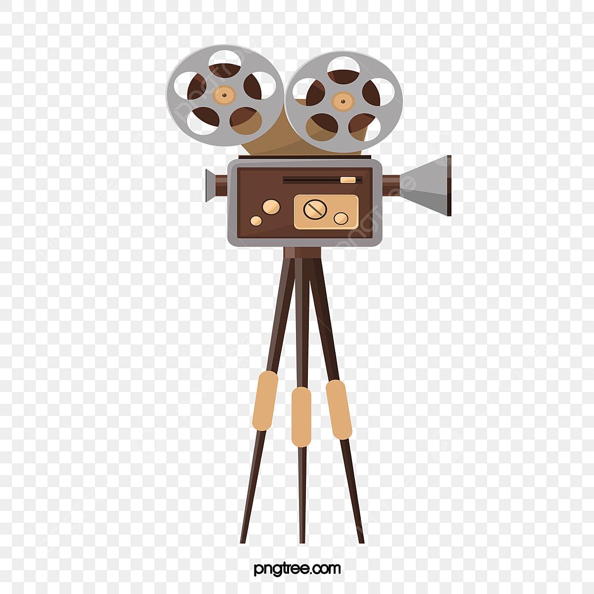 Vector Yellow Retro Old Shanghai Movie Projector, Retro Vector