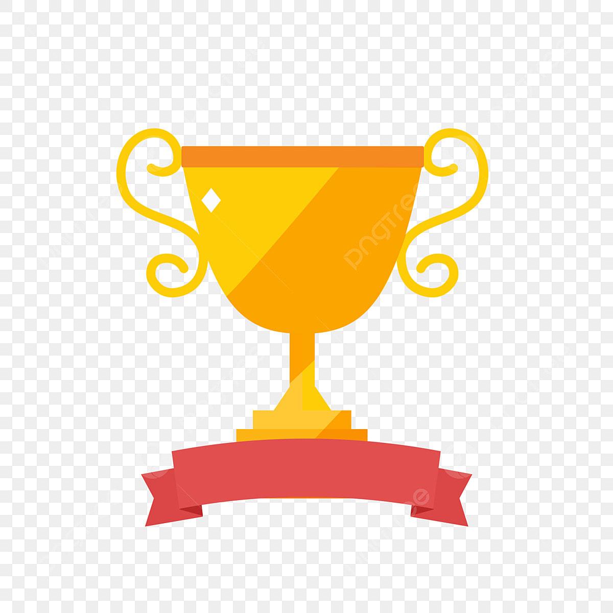 vector amarillo fase trofeo campe u00f3n vector pintado a mano