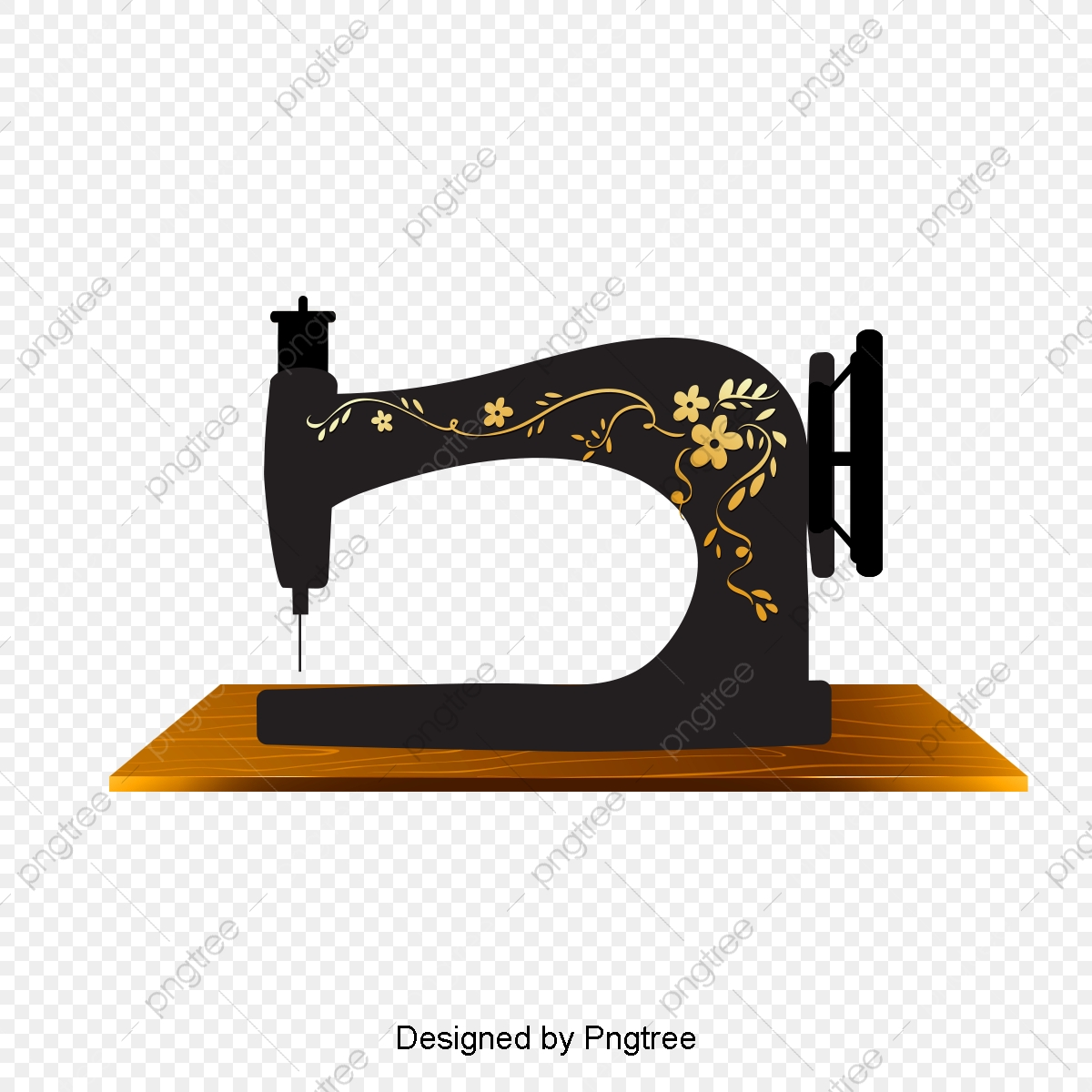 Vintage Sewing Machine, Retro, Sewing Machine, Tailor PNG