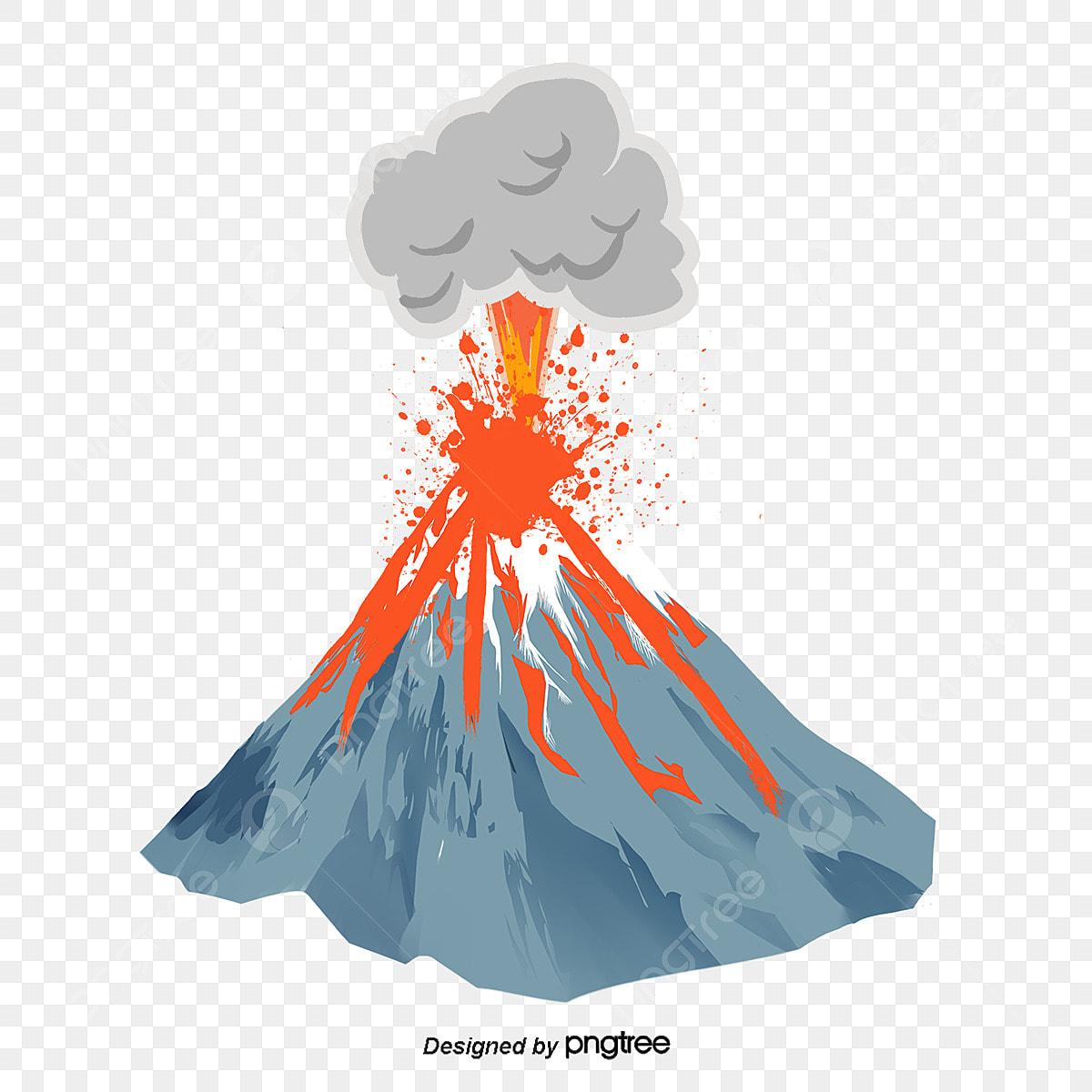 L Eruption Volcanique Clipart De Volcan Creatif Dessin Anime Fichier Png Et Psd Pour Le Telechargement Libre