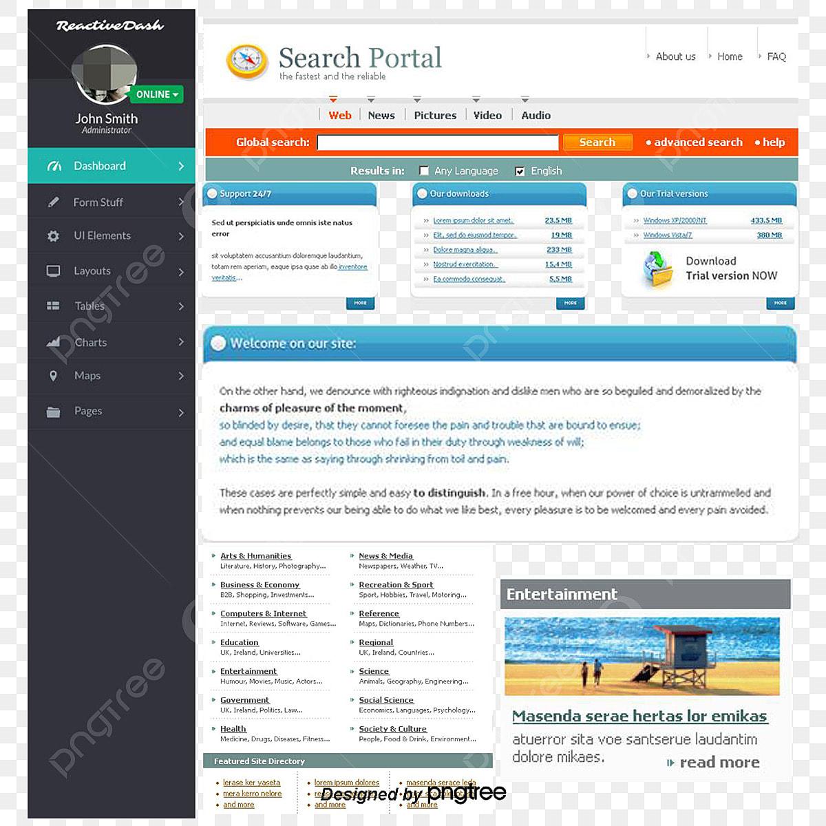 Web Ui Design Templates, Dashboard Design, Ui Design, Blue PNG