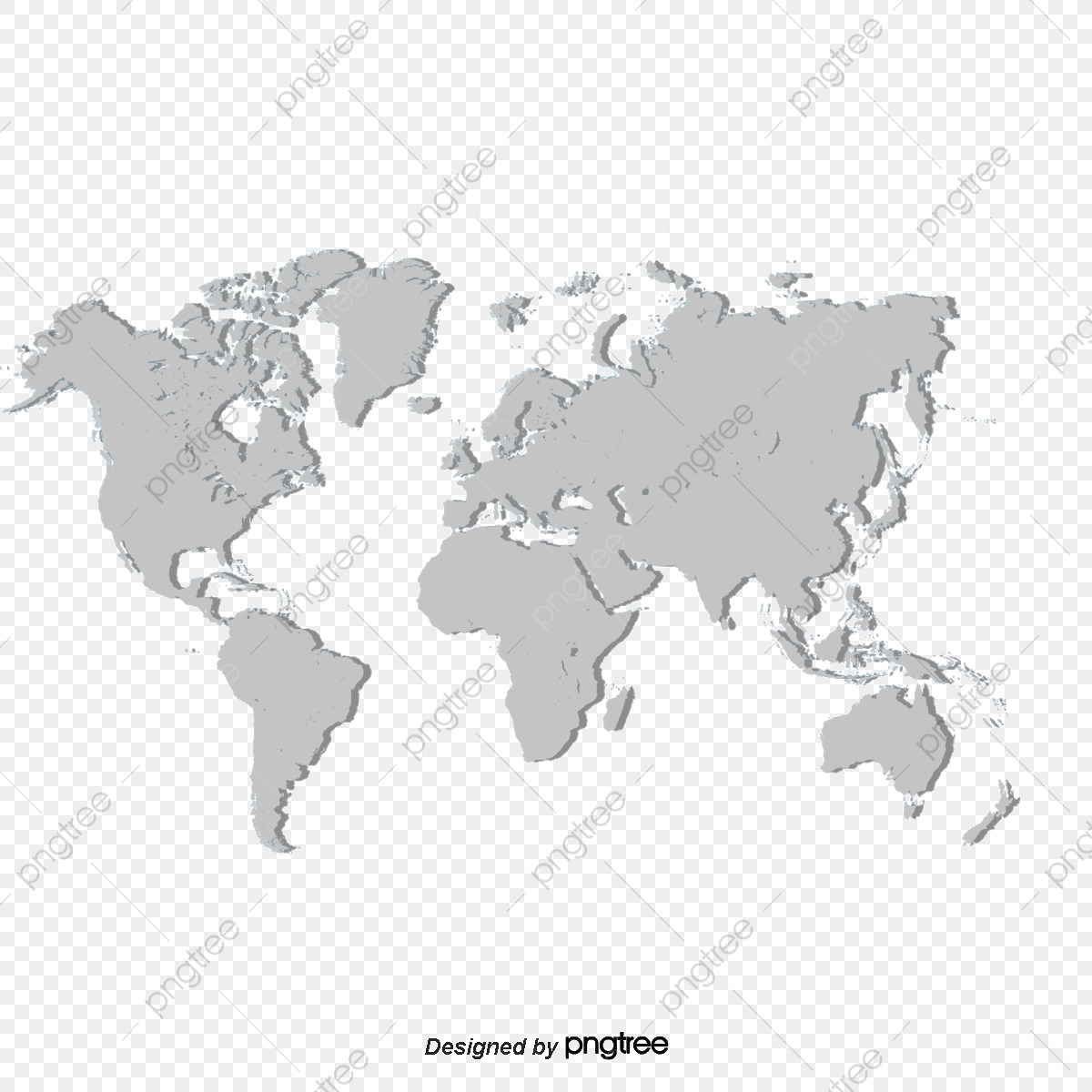 White Map, Map Clipart, World Map, Vector Map PNG ...