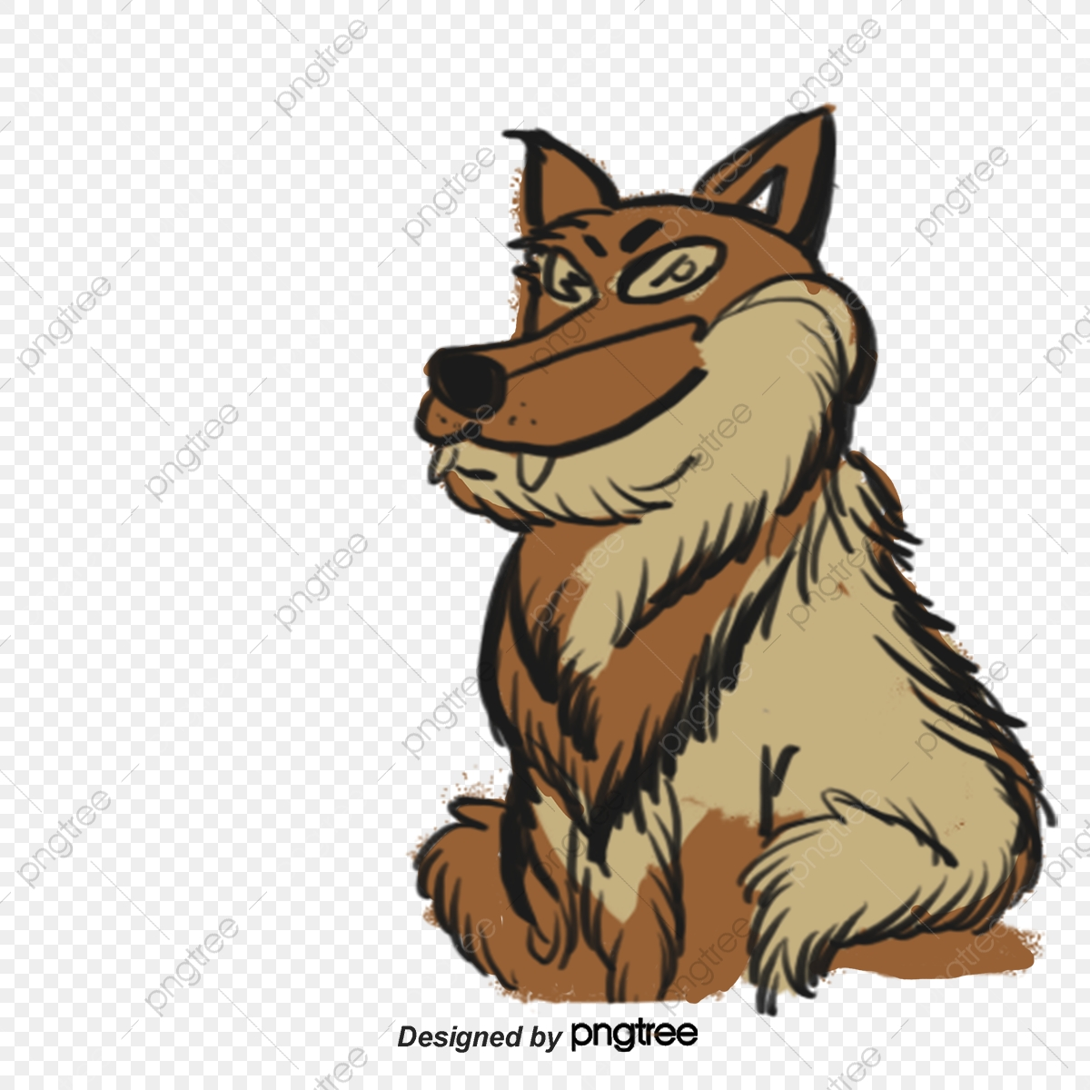 Wolf Avatar Material Picture, Gray Wolf, Beast, Head Portrait PNG
