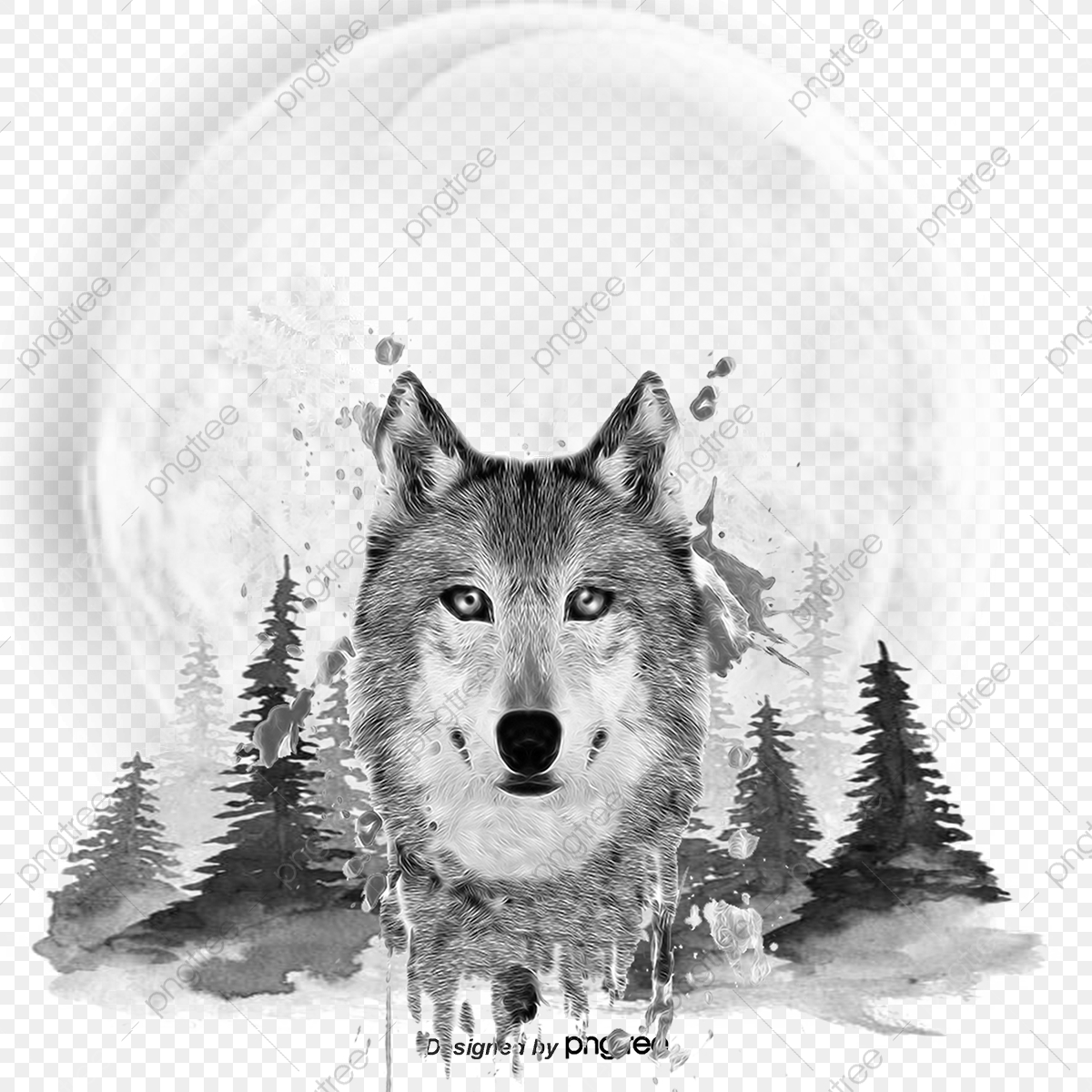 Wolf Vector PSD And Clipart With Transparent
