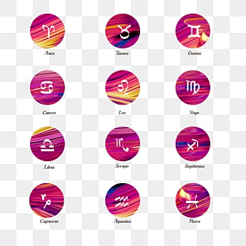 color brush watercolor 12 constellation zodiac symbol group, 12 Constellations, The 12 Chinese Zodiacs, Element PNG and PSD