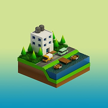 isometric city buildings, Isometric, Illustration, Design PNG and PSD