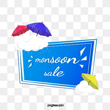 monsoon discount border, Cloud, Umbrella, Price Reduction PNG and PSD