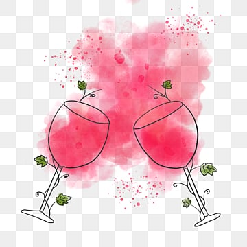 red hand painted watercolor splashing red wine illustration elements, Spatter, Coloured Drawing, Hand Painted PNG and PSD