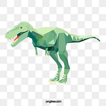 simple style of green polygon animal dinosaur color block, Element, Animal, Polygon PNG and PSD