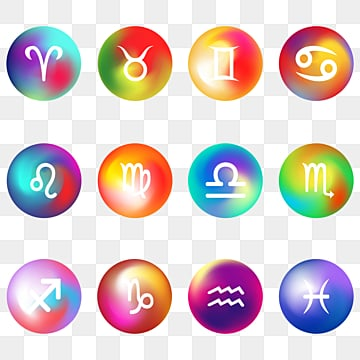 Twelve Constellation Symbols Watercolor Icon, Twelve Constellations, Constellation Icon, Constellation Symbols PNG and PSD