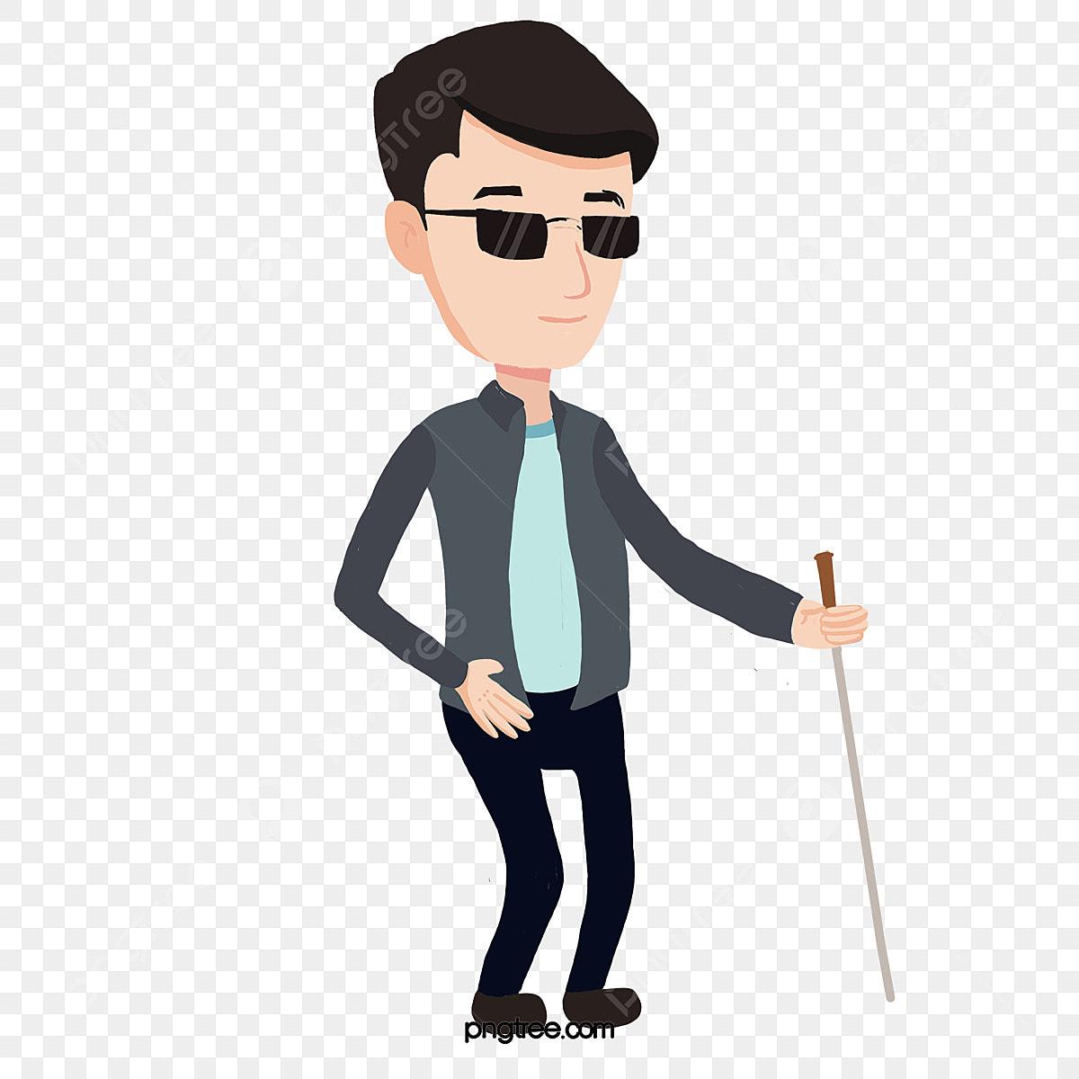 L Homme Aveugle Clipart Homme Clipart Marche Dessin Anime Fichier Png Et Psd Pour Le Telechargement Libre