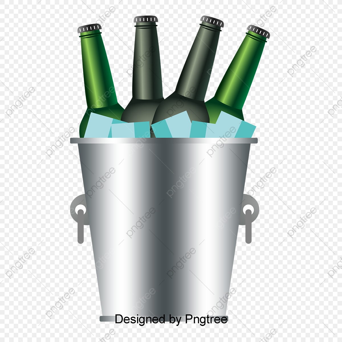 A Bucket Of Iced Beer Beer Vector Vector Png Beer Png And