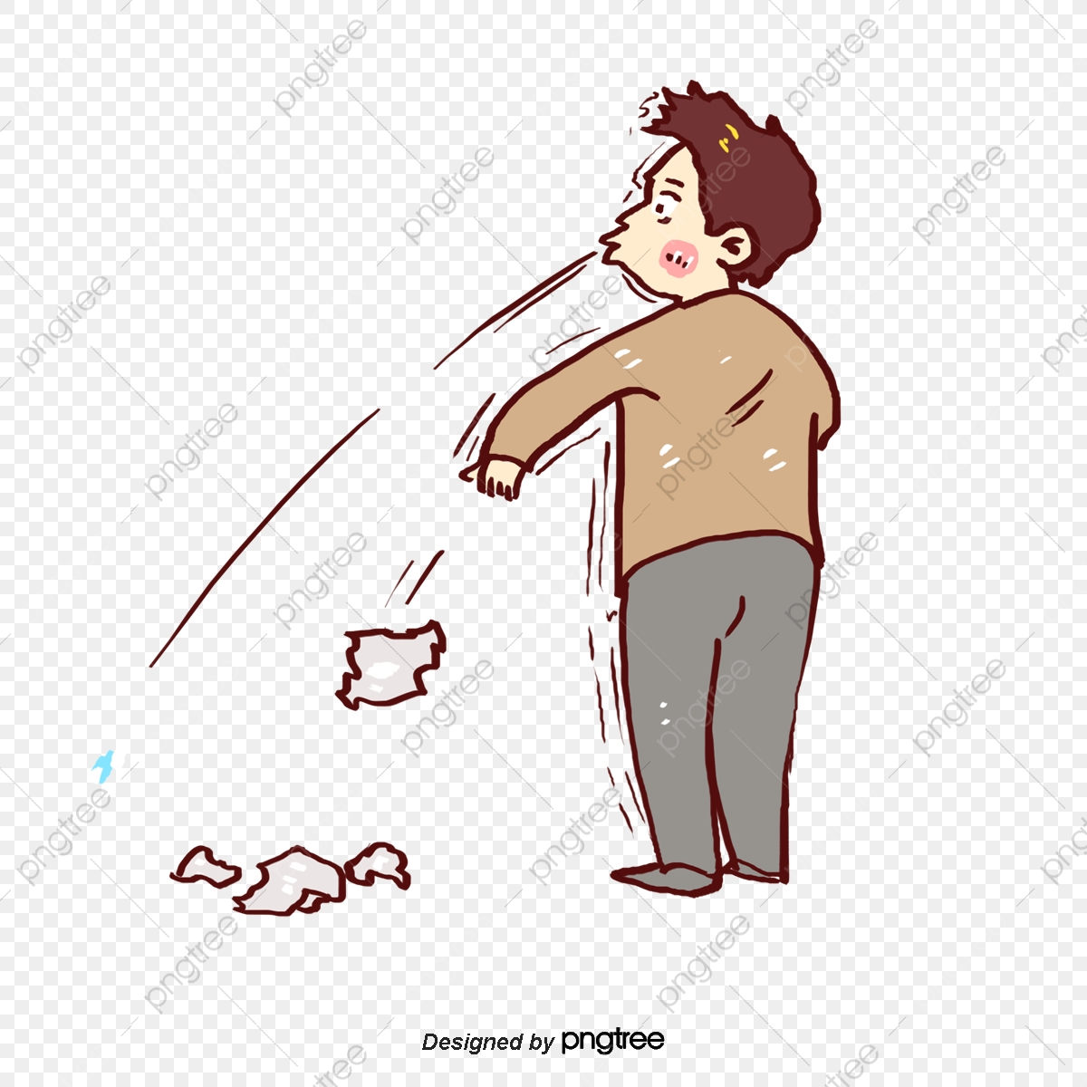 A Litter Boy, Boy Vector, Vector Png, Environmental Advertisement
