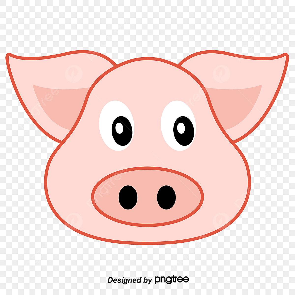 une t u00eate de cochon rose graphique vectoriel cochon rose le