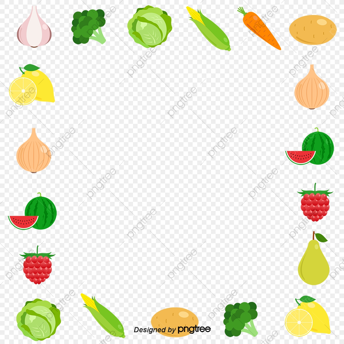 Fruit vector. All kinds of border