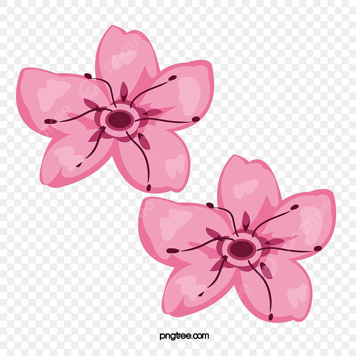 Petalas De Cerejeira Elegante Padrao Vector Flor De Cerejeira
