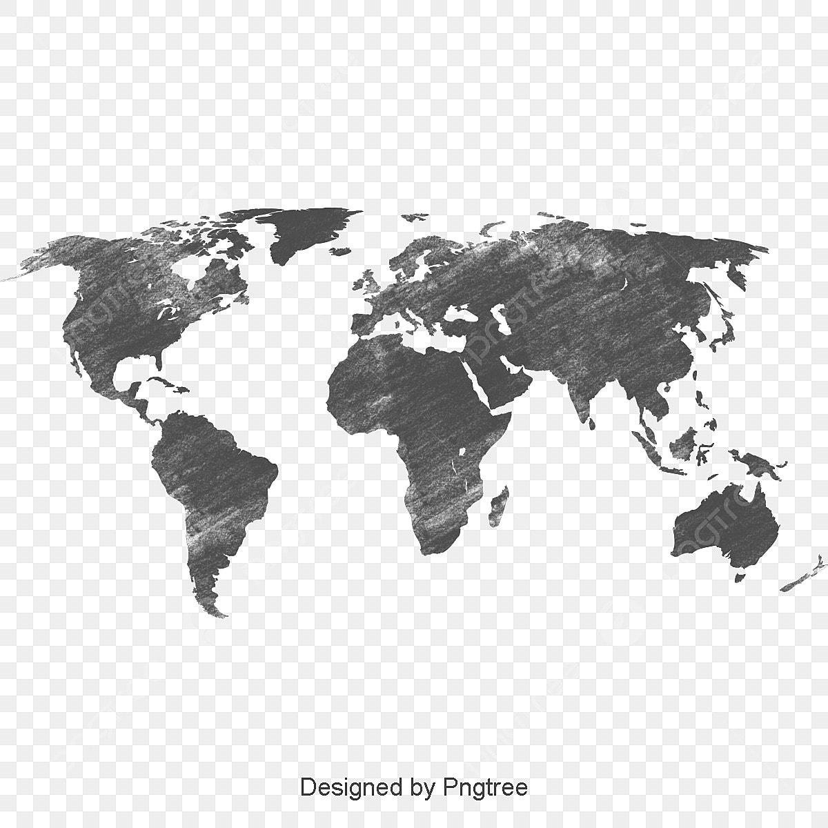 black world map black world map png transparent clipart. Black Bedroom Furniture Sets. Home Design Ideas