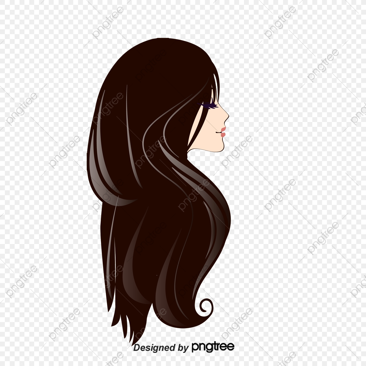 cartoon hair beauty silk psd pngtree upgrade file authorization license resource premium commercial plan