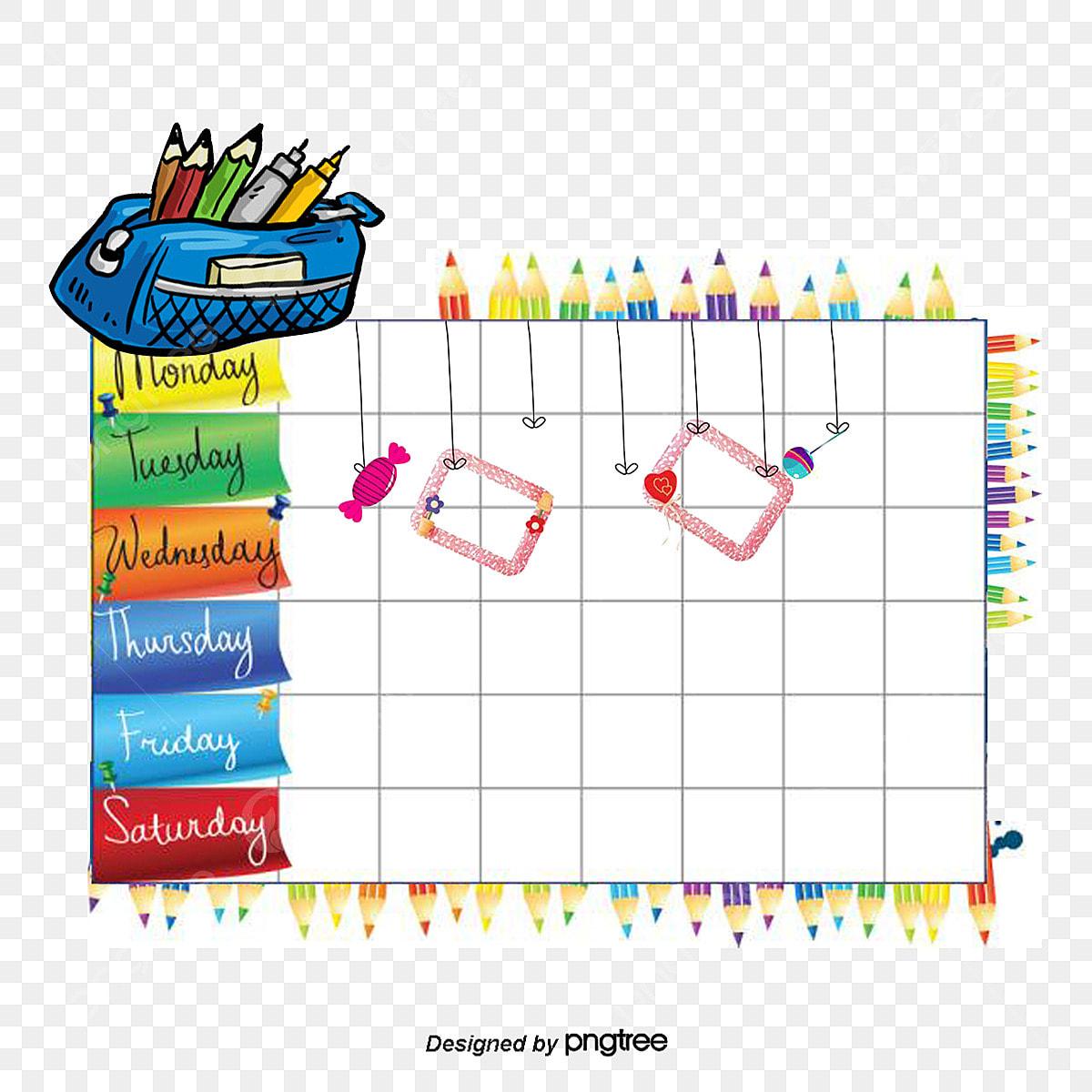 tableau fournitures scolaires des cours de dessin le vecteur de png programme de dessin anim u00e9