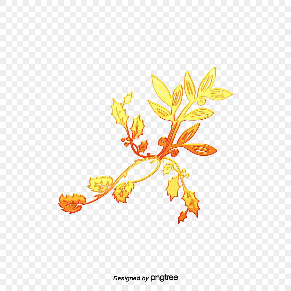 Desenhos Pintados A Mao De Flores Douradas Petalas Pintados A