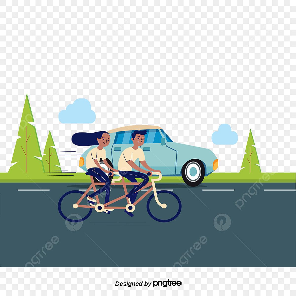 dessin de couple illustration romantique scooter le v u00e9lo png et vecteur pour t u00e9l u00e9chargement gratuit