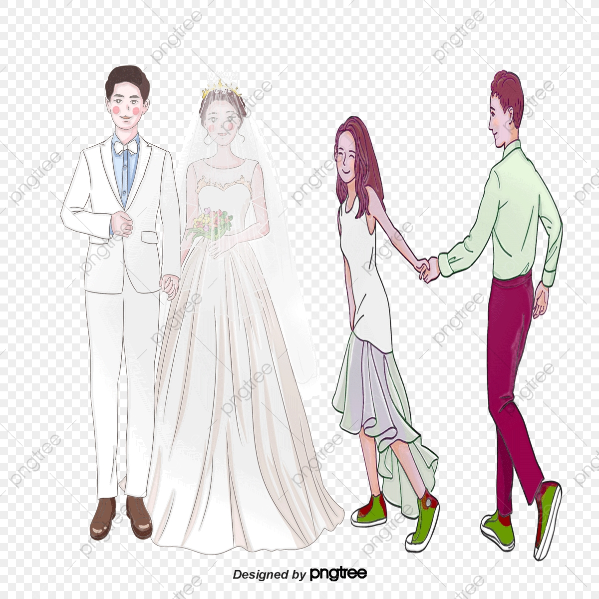 Sweet Newlywed Couple. Bride And Groom. Cute Cartoon Characters... Royalty Free  Cliparts, Vectors, And Stock Illustration. Image 97269886.