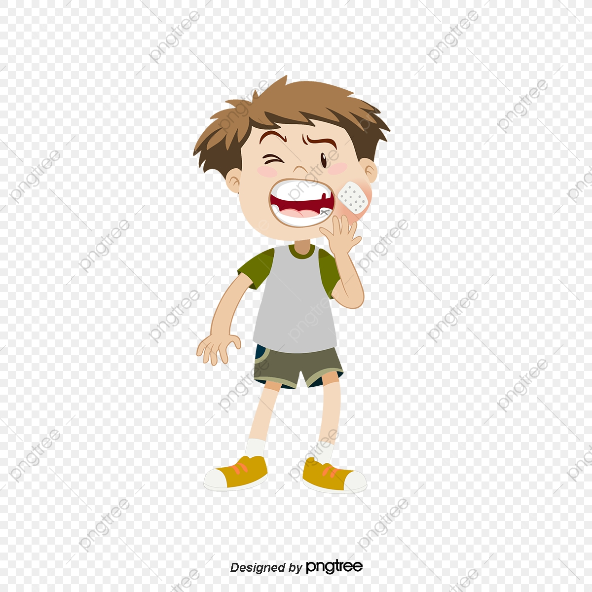 Cartoon Of A Small Man S Toothache Dental Bacteria Dental Cartoon Of Germs Png Transparent Clipart Image And Psd File For Free Download