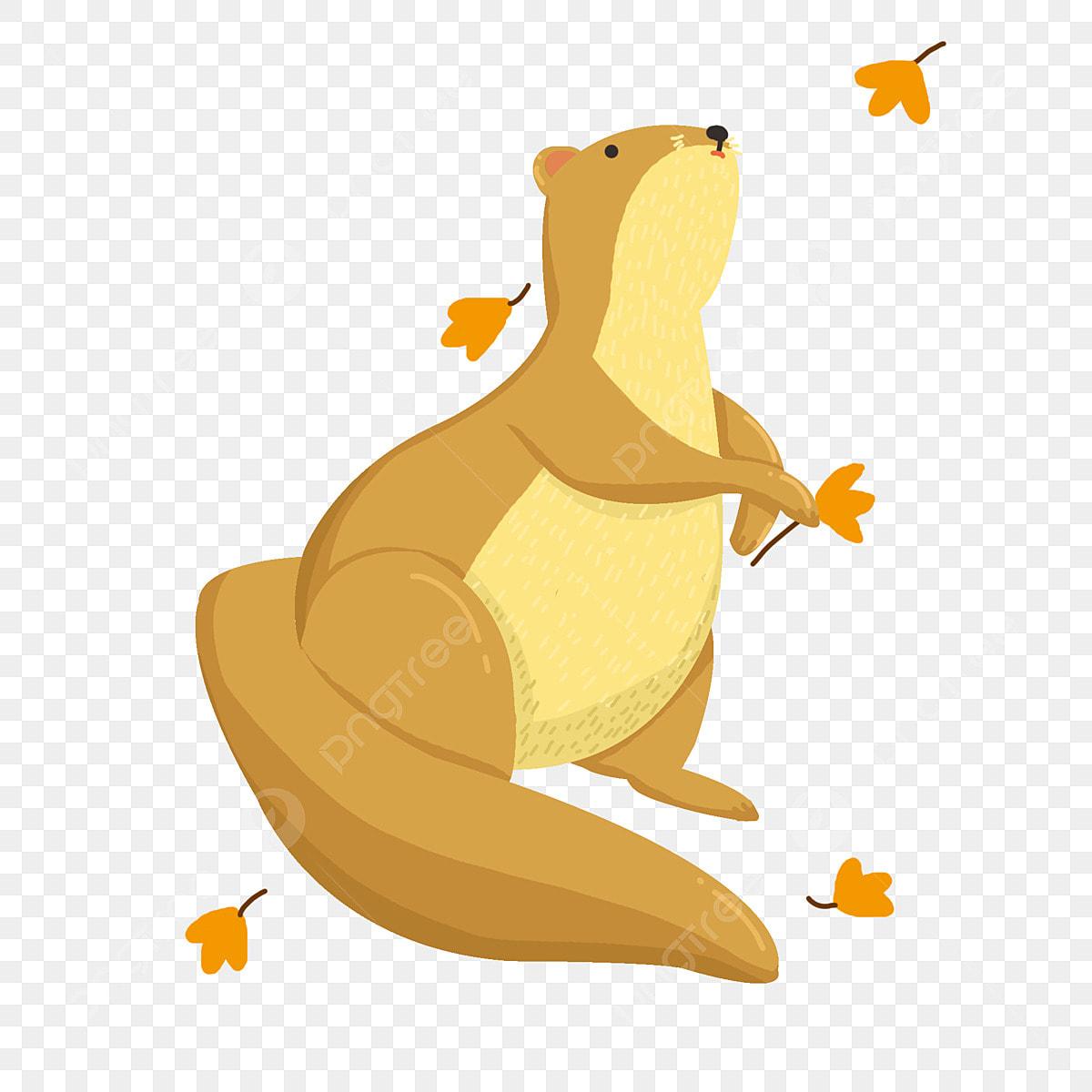 Cartoon Otter, Cartoon Clipart, Otter Illustrator, Hand