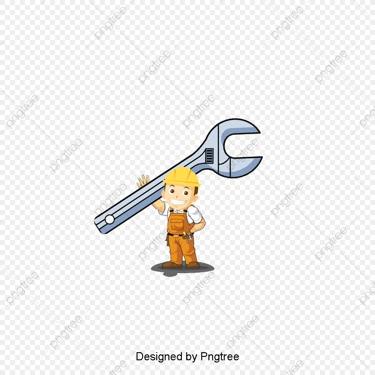 Cartoon Plumber, Cartoon Clipart, Plumber Clipart, Carrying Tools