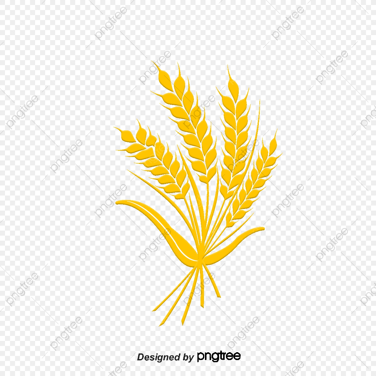 Cartoon Wheat Wheat Chinese Herbal Chinese Wind Herbs Png And
