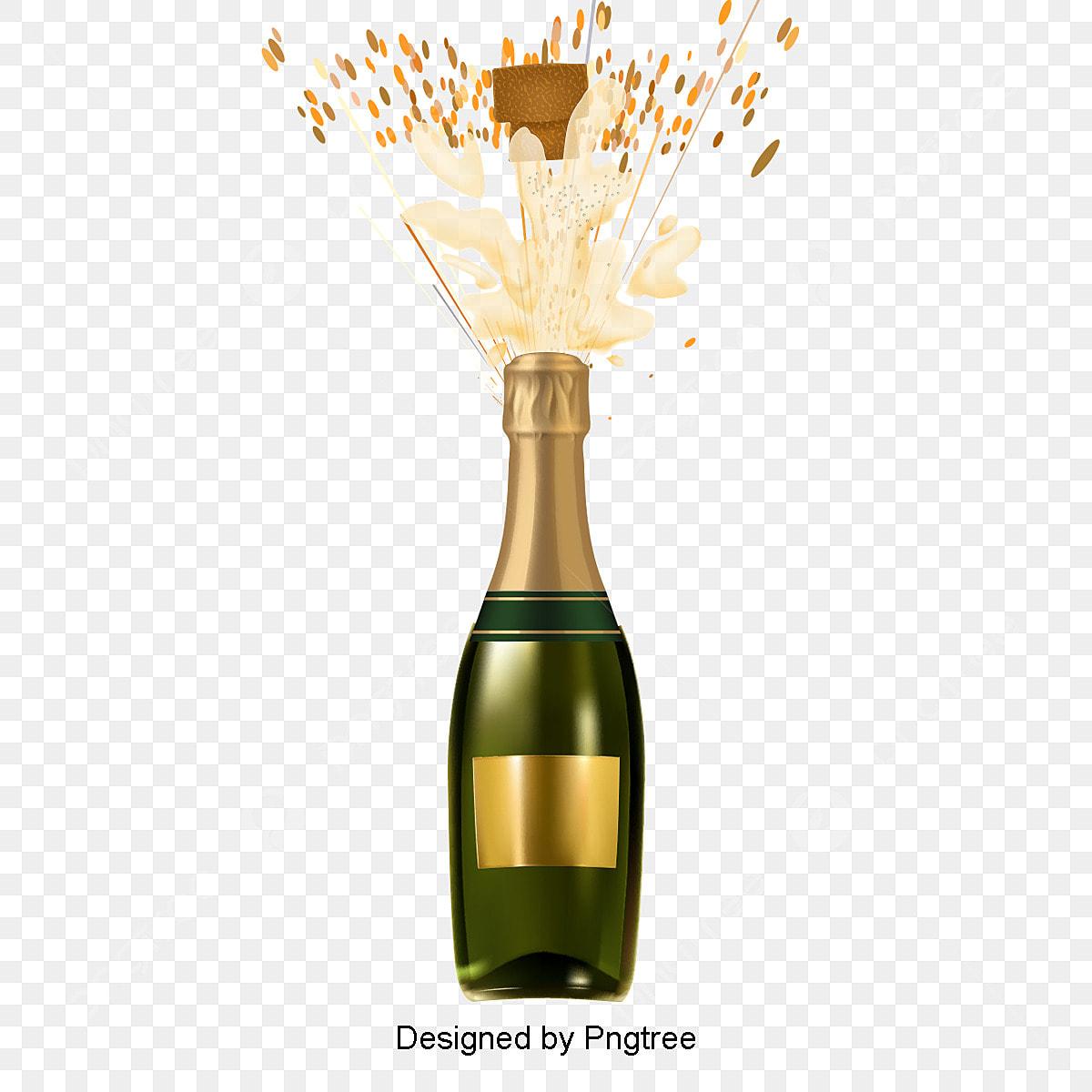 La Bouteille De Champagne Png Images Vecteurs Et Fichiers Psd Telechargement Gratuit Sur Pngtree