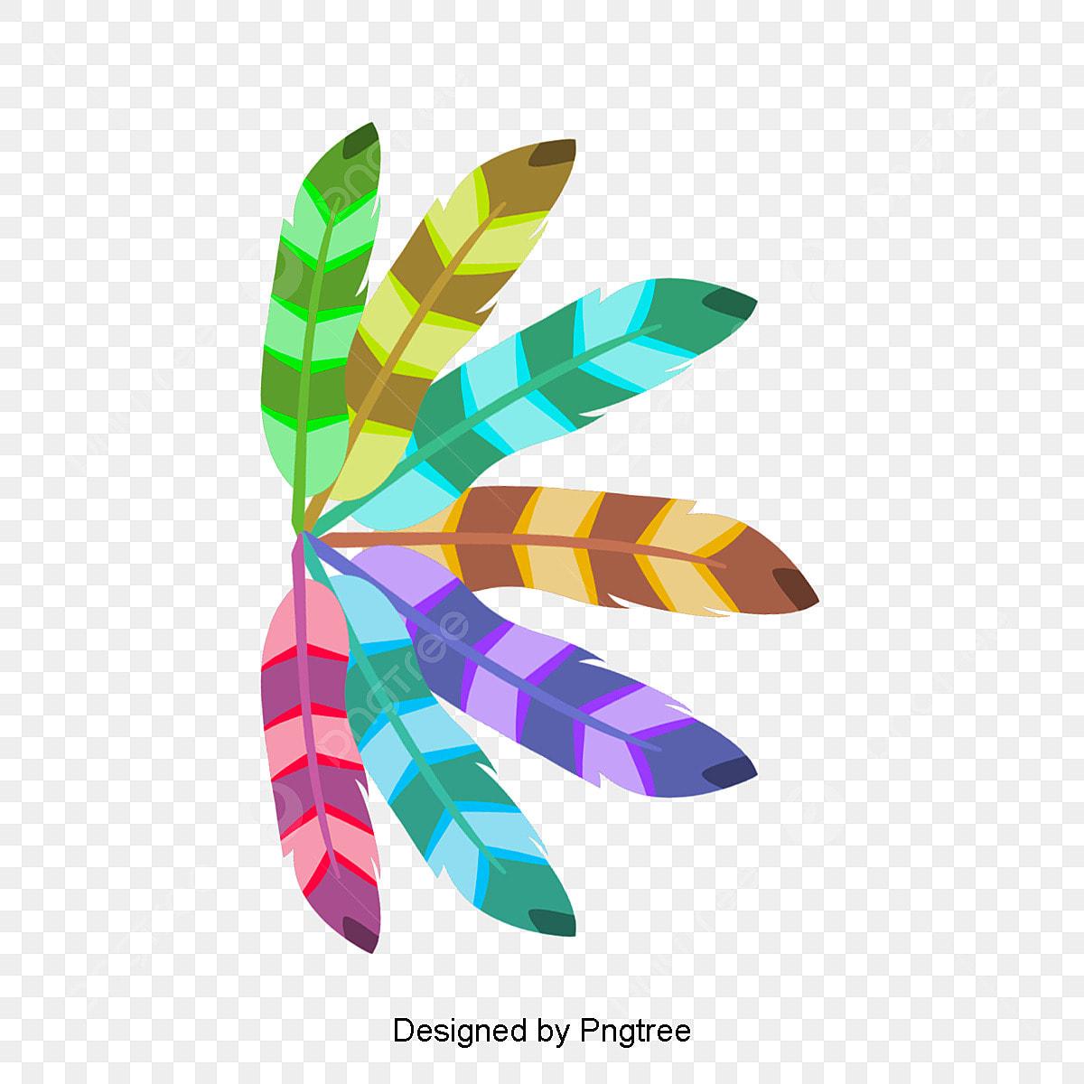 Colored Pluma De Indio Color Indian Pluma Archivo Png Y Psd Para