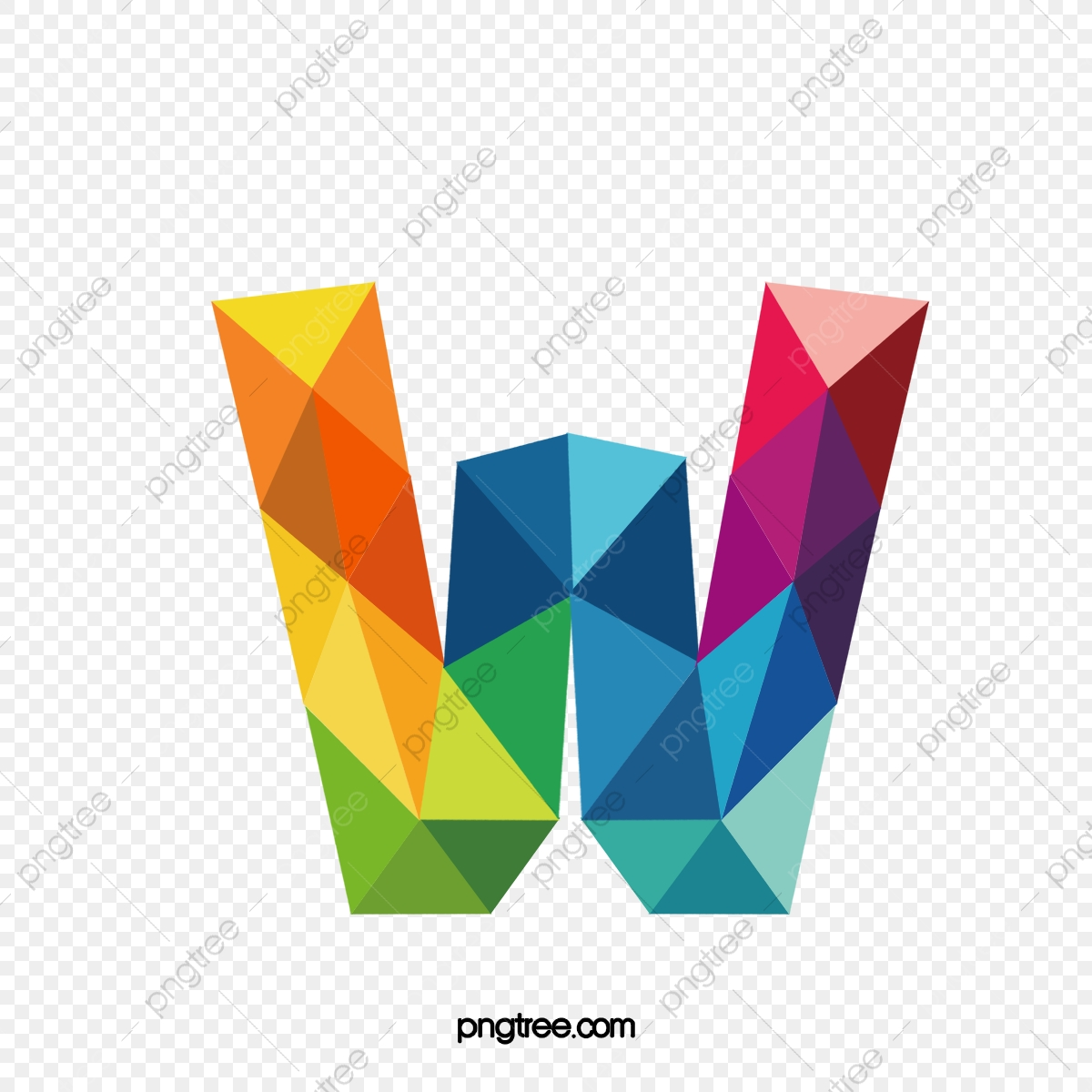 Colorful Letters W, Letter, Colorful, W PNG Transparent Clipart ...