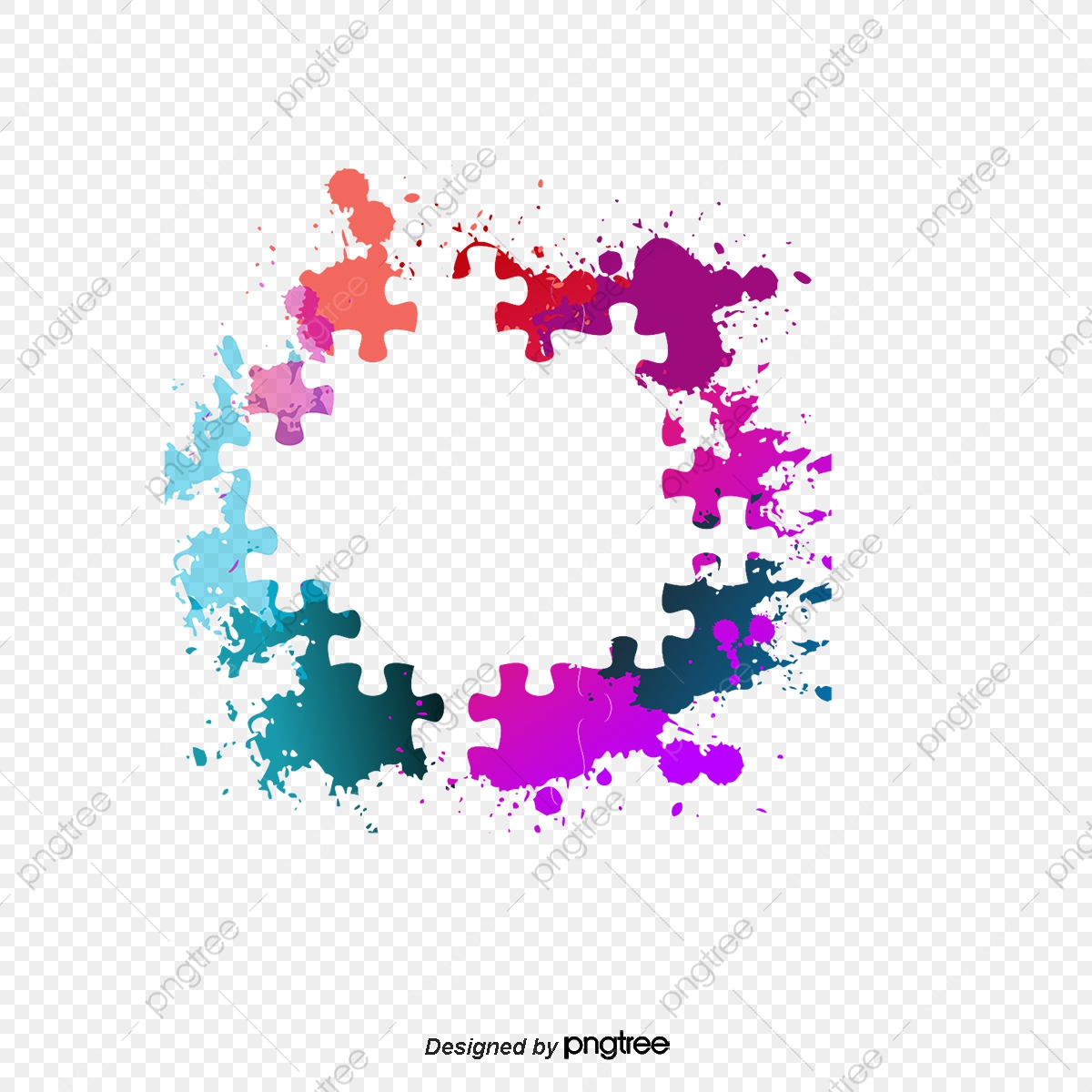 Colorful Puzzle Border Vector Png Puzzle Colorful Jigsaw Puzzle