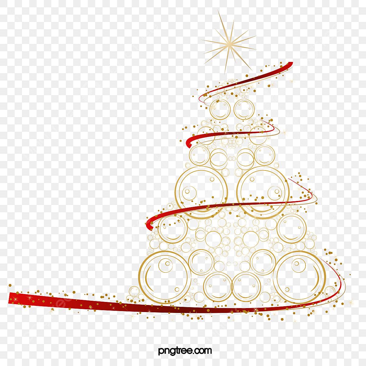 árvore De Natal Dourada Criativa Clipart A Originalidade