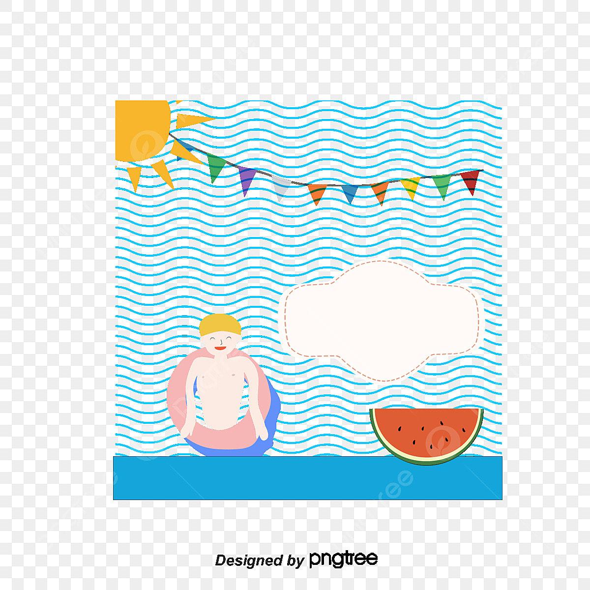Tarjeta De Invitación Vector Creativo De Pool Party