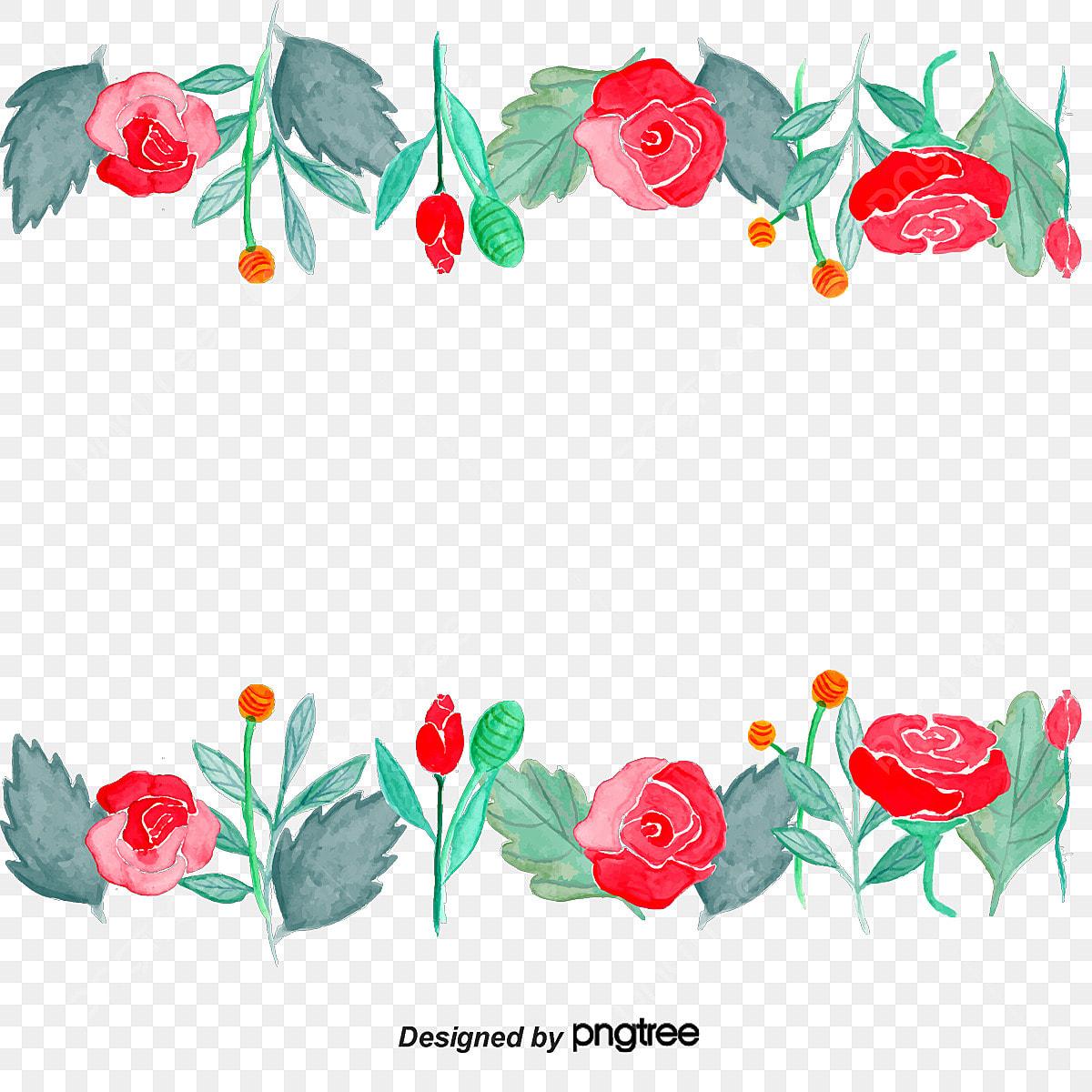 Bunga Bunga Bingkai Warna Sempadan Kaligrafi Dan Lukisan