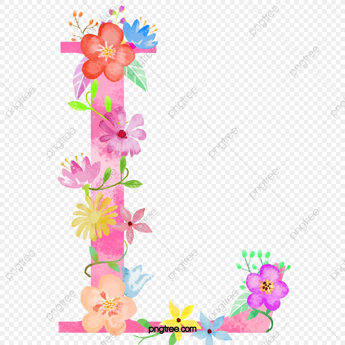 Flowers Letter L Letter Flower L Png Transparent Clipart Image And Psd File For Free Download