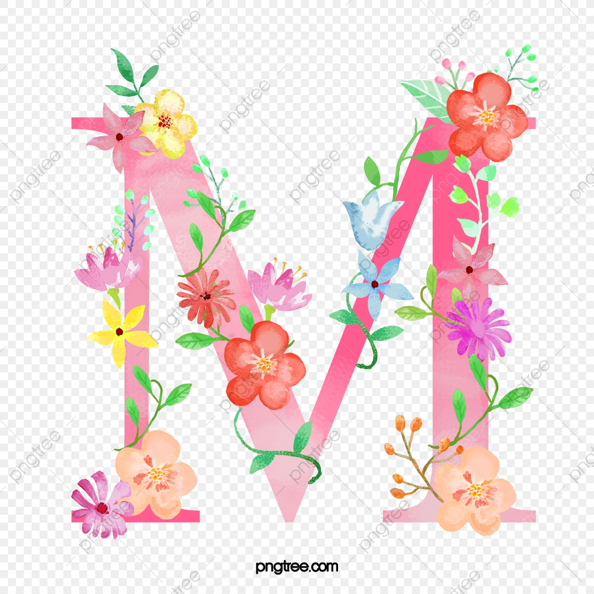Flowers Letter M Letter M Flower Png Transparent Clipart Image And Psd File For Free Download