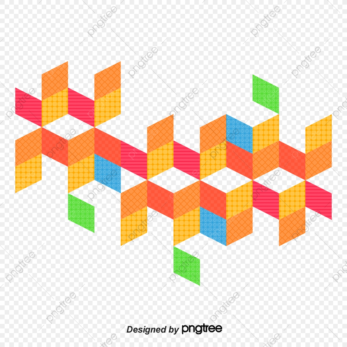 Geometric Vector Diagram, Hand, Geometric Figure, Mosaic PNG