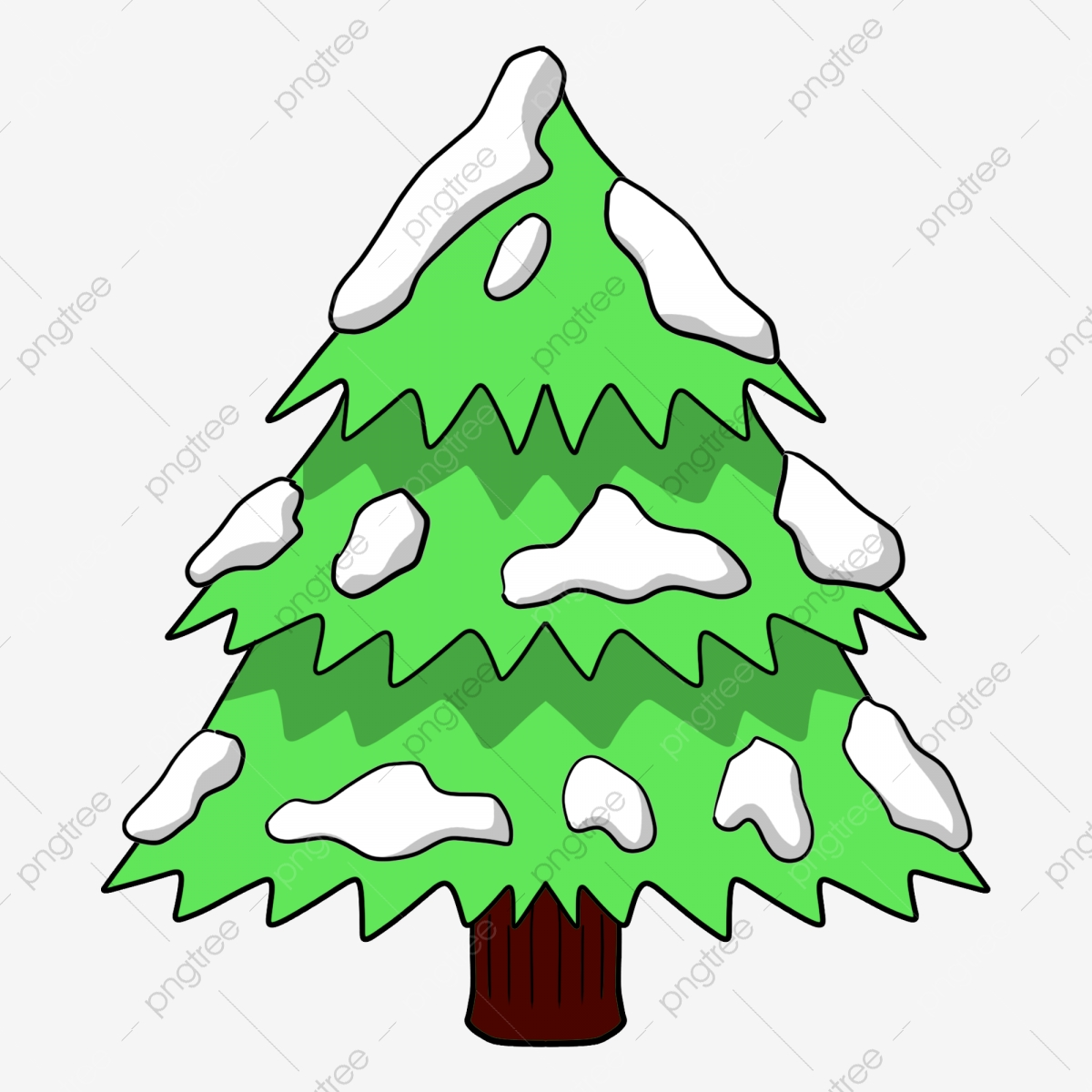 Green Snow Christmas Tree Tree Clipart Green The Snow Png