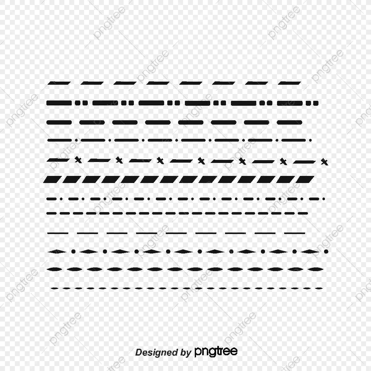 Hand Drawn Dotted Line, Vector Png, Dividing Line, Hand