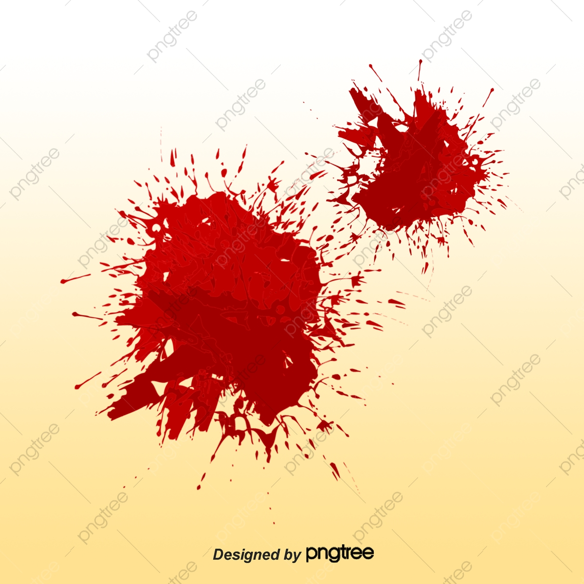 Hand Painted Little Dark Blood, Hand Vector, Blood Vector